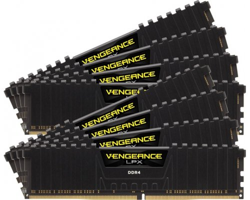 MEMORIA DDR4 2933 CORSAIR VENGEANCE LPX BLACK 8x16GB