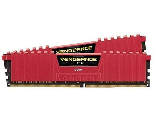 MEMORIA DDR4 2400 CORSAIR VENGEANCE LPX RED 2x8GB
