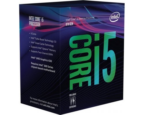 PROCESADOR INTEL CORE i5-8600K 3.6GHz BOX s1151-8G