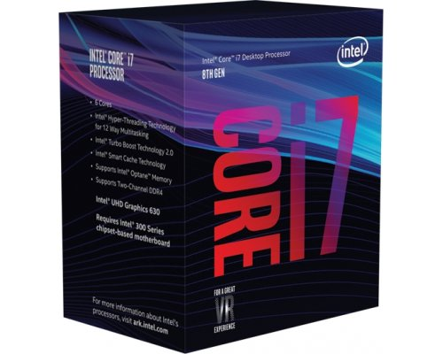 PROCESADOR INTEL CORE i7-8700K 3.7GHz BOX s1151-8G