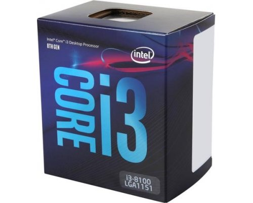 PROCESADOR INTEL CORE i3-8100 3.6GHz BOX s1151-8G