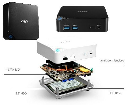 MINIPC MSI ADONIA CUBI OFFICE ULTRA I5-5200U 8GB 1TB