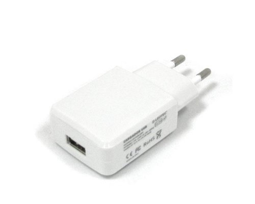 CARGADOR TABLET 5V 2A WHITE + CABLE USB LEOTEC