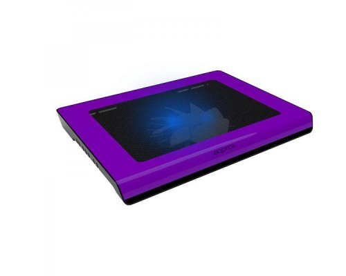 "LAPTOP COOLER PAD PURPLE 15.6"" 2 LEDS APPROX"
