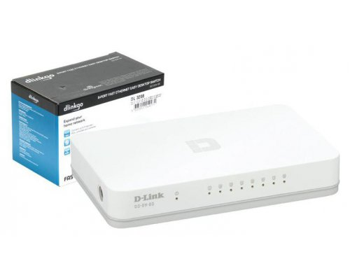 SWITCH D-LINK GO 10/100 MBPS BLANCO