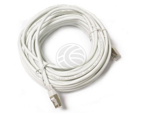 CABLE DE RED FTP CATEGORÍA 5E ETHERNET BLANCO 20M