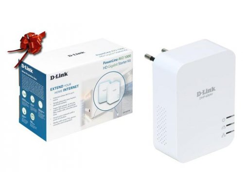 KIT POWERLINE D-LINK DHP-610AV HD 1000MBPS 2 UNIDADES