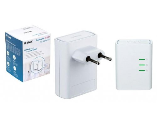 KIT POWERLINE D-LINK DHP-509AV 500MBPS 2 UNIDADES