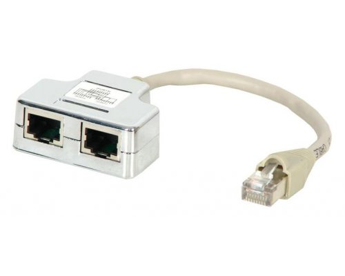 DIVISOR 100 BASE TX RJ45 CAT. 5E STP 1 MACHO A 2 HEMBRA