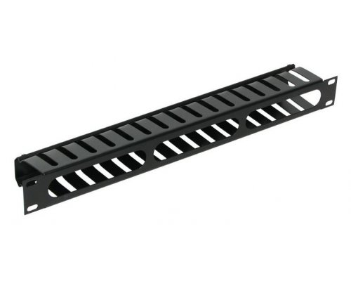 "PANEL FRONTAL 19"" GUIA CABLES EN METAL NEGRO"