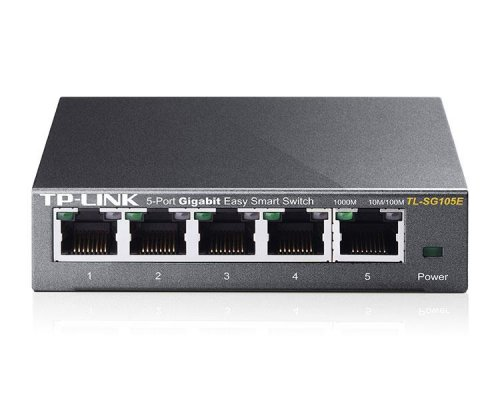 TP-LINK SWITCH EASY SMART 5 PUERTOS 10/100/1Gbit Rack.