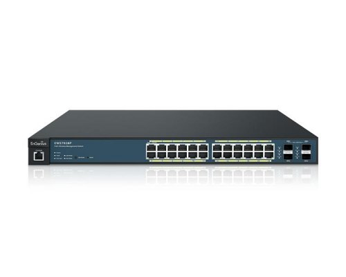 ENGENIUS SWITCH 24 PUERTOS 10/100/1Gbit WLAN + 4 SFP PoE