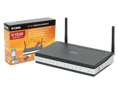 KIT ROUTER WIRELESS D-LINK DKT-400 802.11B/G/N 300 MBPS CON