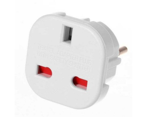 ADAPTADOR SCHUKO A ENCHUFE UK INGLÉS