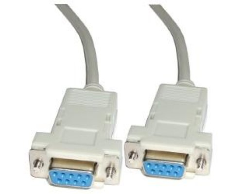 CABLE SERIE NULL-MODEM 15M (DB9-H/H)