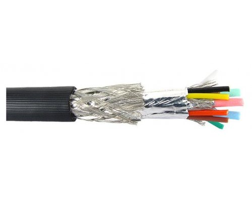 CABLE MULTICOAXIAL RGB 7 CONDUCTORES NEGRO