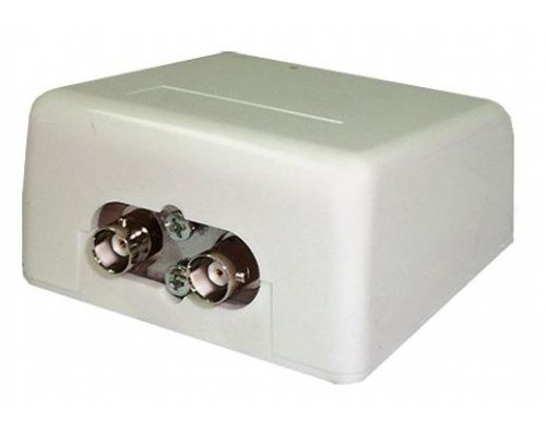 CAJA DE SUPERFICIE RG58 CON INTERRUPTOR DE RED THIN-ETHERNET