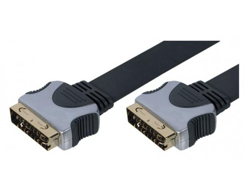 CABLE EUROCONECTOR FLAT GOLD M/M