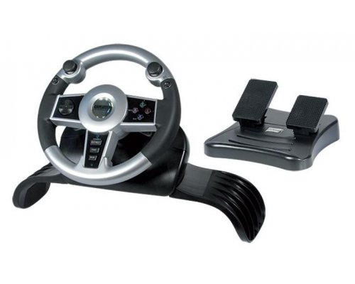 VOLANTE WIRELESS PARA PS2/XBOX/GC NEGRO Y GRIS