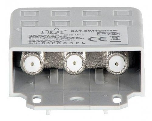 SWITCH DISEQC 2.0 DE PARED PARA SATÉLITE 4 ENTRADAS-1 SALIDA