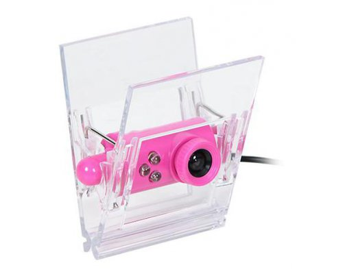 WEBCAM USB 2.0 CLIP ON TRANSPARENTE