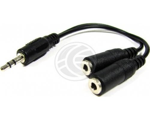 ADAPTADOR AUDIO ESTÉREO JACK 3.5MM M A 2 JACKS 3.5MM H MONO