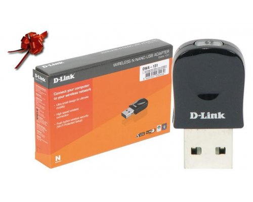 MINI ADAPTADOR USB D-LINK WIRELESS 802.11B/G/N 300 MBPS