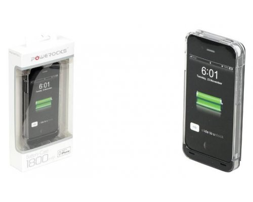 FUNDA CON BATERÍA POWEROCKS PARA IPHONE 4/4S 1800MAH
