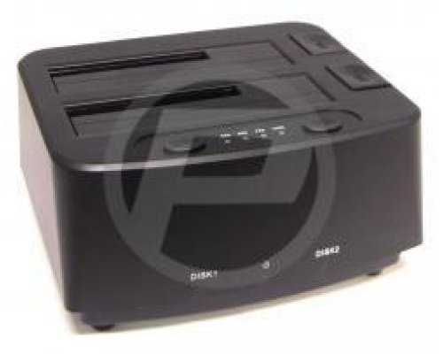 DOCKING STATION SATA CON USB 3.0 Y 2 HDD