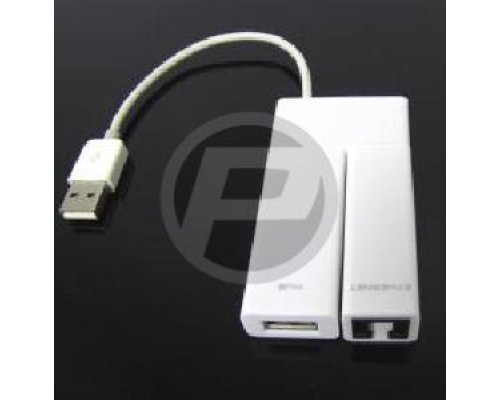 HUB USB2.0 4PUERTOS + ADAPTADOR ETHERNET 100Mb