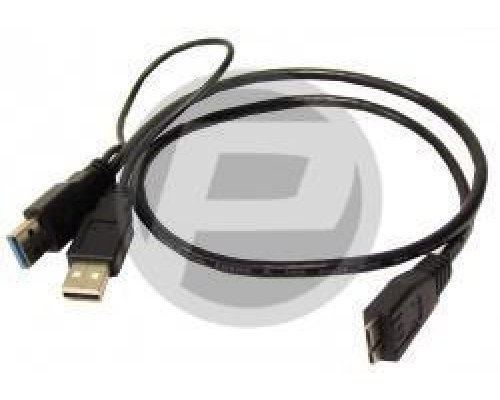 CABLE SUPERSPEED USB 3.0 DOBLE ALIMENTACIÓN (2AM/MICROUSB-M)