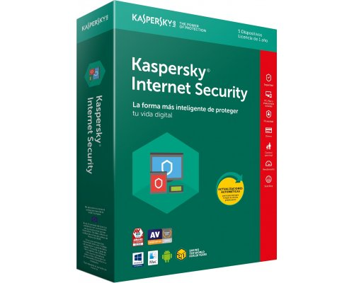 ANTIVIRUS KASPERSKY INTERNET SECURITY 2018 MULTIDEVICE 5L/1A
