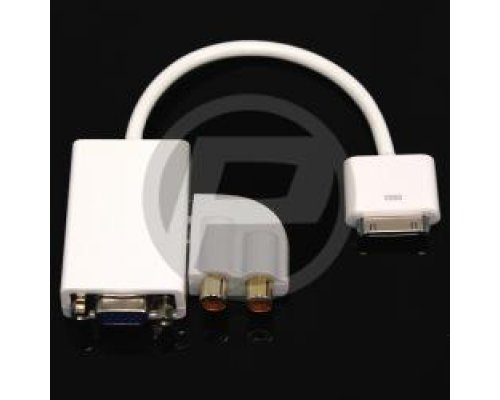ADAPTADOR AUDIO Y VGA PARA APPLE IPAD IPOD IPHONE 30PIN