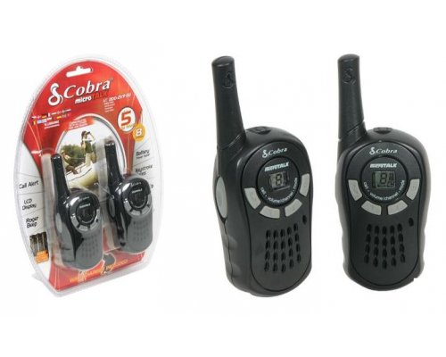 WALKIE TALKIES COBRA RADIO PMR 5KM 8 CANALES NEGRO