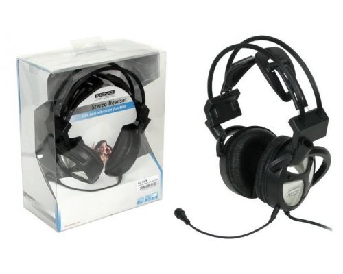 AURICULAR STEREO KONIG CON MICRO Y USB BASS VIBRATION NEGRO