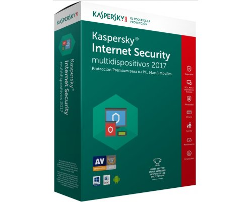 ANTIVIRUS KASPERSKY 2017 INTERNET SECURITY 2L/1A