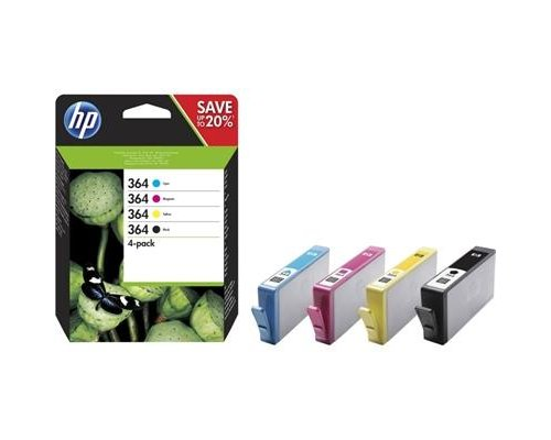 CARTUCHO ORIGINAL HP 364 MULTIPAK (N9J73AE)