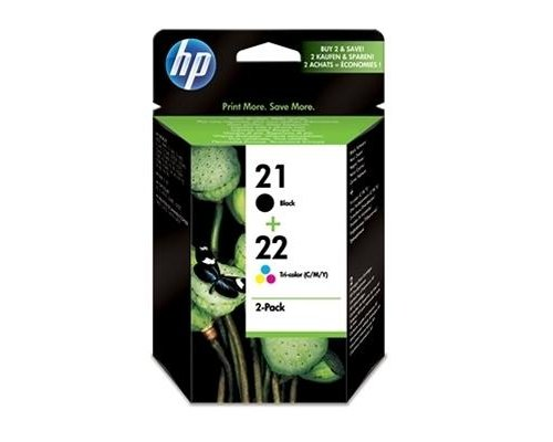 HP SD367AE PACK CARTUCHOS NEGRO+TRICOLOR HP21+HP22