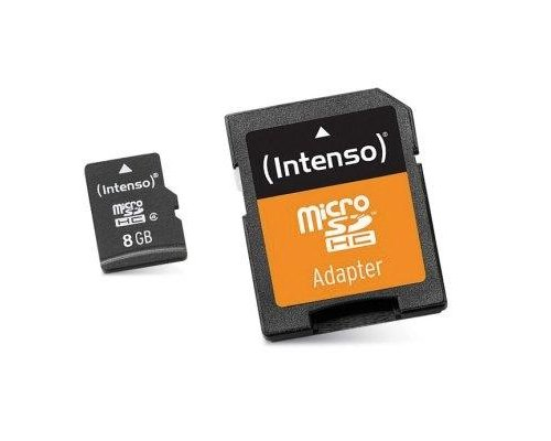 INTENSO 3413460 MICRO SD CLASE 10 8GB C/ADAPT