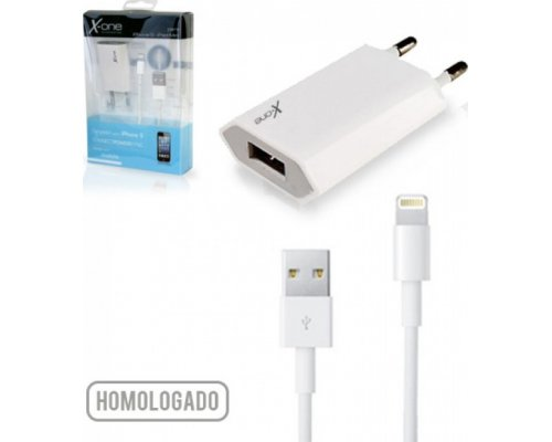 CARGADOR USB X-ONE 5V 1A + CABLE LIGHTNING