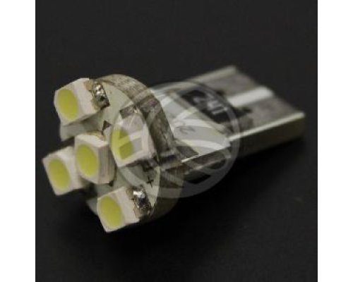 BOMBILLA COCHE LED T10 W5W 5X1210SMD CANBUS