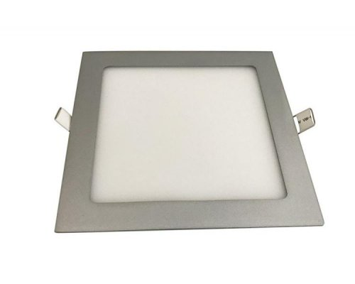 DOWNLIGHT LED PLATA CUADRADO 7W LUZ CALIDA IGLUX