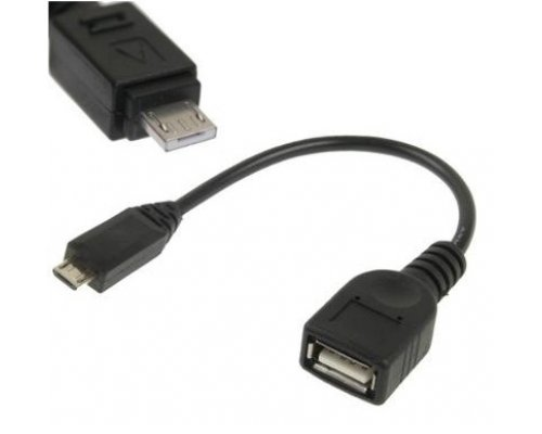 CABLE USB OTG microUSB TIPO A / USB HEMBRA 0.15m