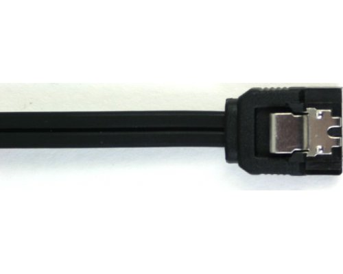 CABLE SATA3 6GB/s NEGRO RECTO CLIP 30AWG