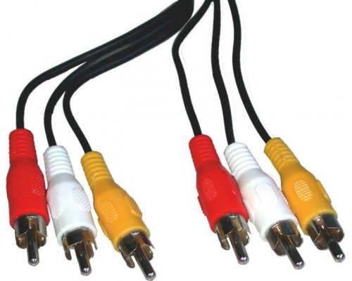 CABLE AUDIO+VIDEO STEREO 1M (3XRCA-M/M)