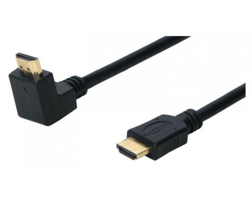 CABLE HDMI 1.4 GOLDPLATED MACHO A MACHO ANGULADO 90º