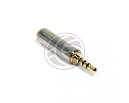 ADAPTADOR AUDIO 4-PIN JACK 3.5MM HEMBRA A JACK 2.5MM MACHO