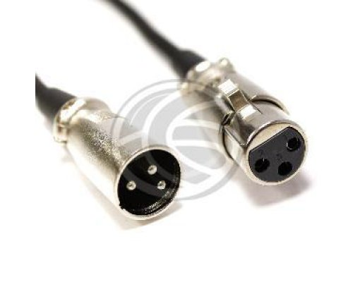 CABLE DMX DMX512 XLR 3PIN MACHO A XLR 3PIN HEMBRA 50M
