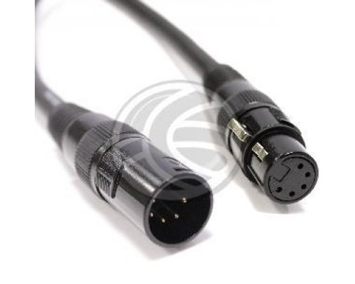 CABLE DMX DMX512 XLR 5PIN MACHO A XLR 5PIN HEMBRA 3M