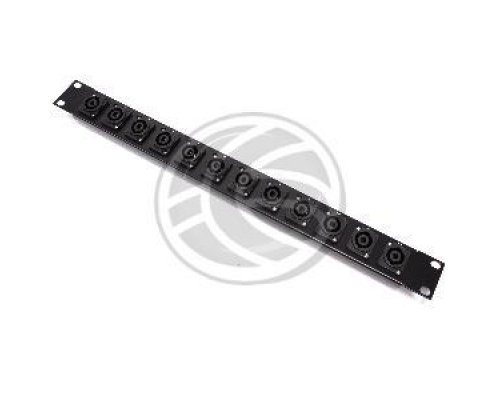 PATCH PANEL RACK19 12-PORT SPEAKON NL4-HEMBRA 1U